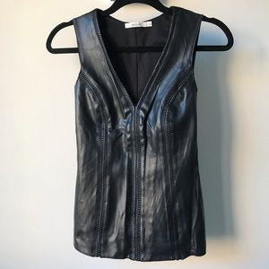 Bailey 44 Leather Front Tank Top